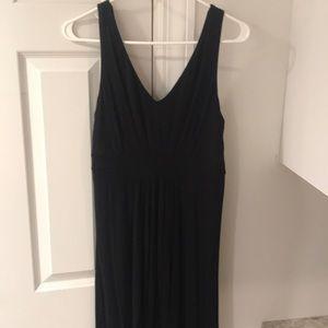 Maxi black banana Republic dress